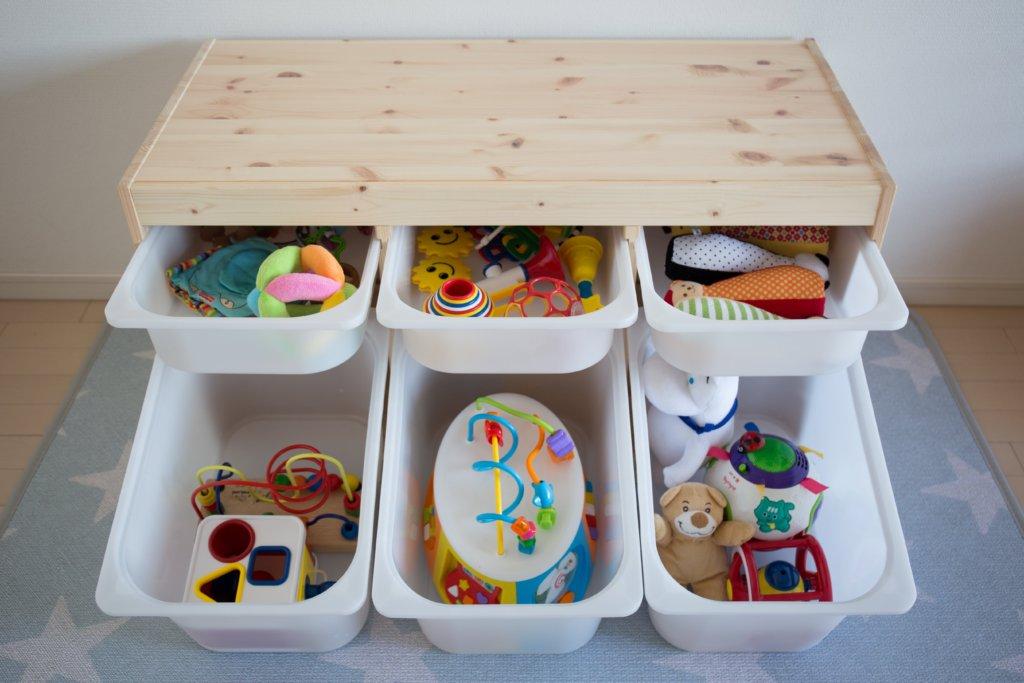IKEAトロファストにおもちゃを収納
